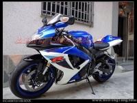 2007 铃木 GSX-R600 K7!改装天蝎炸街排气!蓝白色