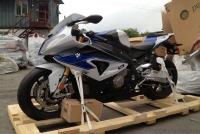 2013款全新宝马S1000RR HP4 跑车 蓝白色 全段天蝎排气