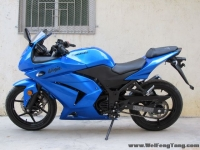 新到2010款川崎忍者250少有的蓝色 百分百原装,不到四千公里