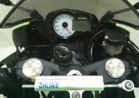 2009款绿色川崎ZX-6R.即将到京,两千多公里