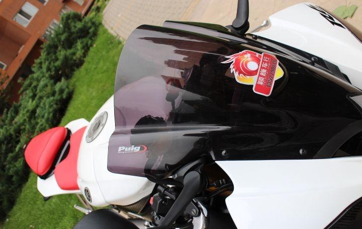 新到2010款雅马哈YZF-R6,改装挡风玻璃 红白黑三色 两千多公里 YZF-R6图片 3